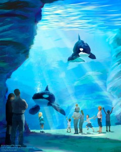 Rendering of SeaWorld's larger orca enclosure