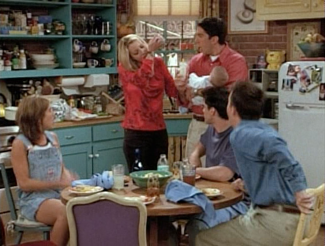 Cast of Friends Recoils in Disgust as Phoebe Tastes Breast Milk
