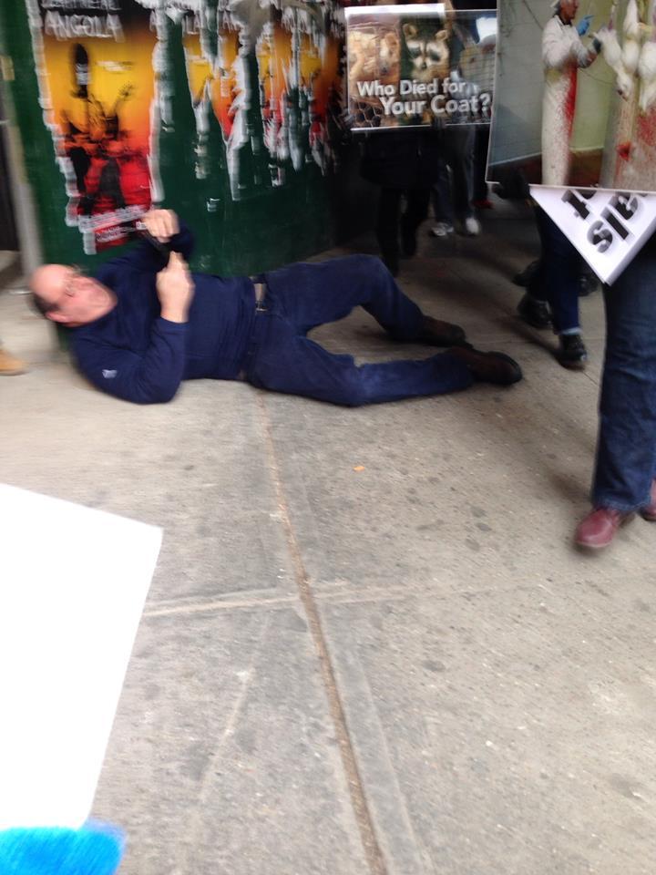 Fur vendor falsely claims activist assaulted him