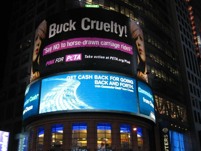 PETA billboard in Times Square