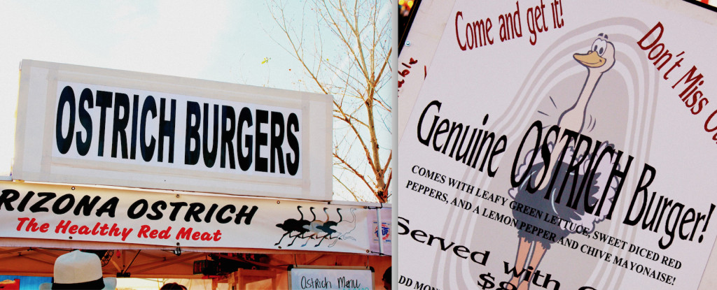 Burgers at the Ostrich Festival (photo: TheKitchenFairy)