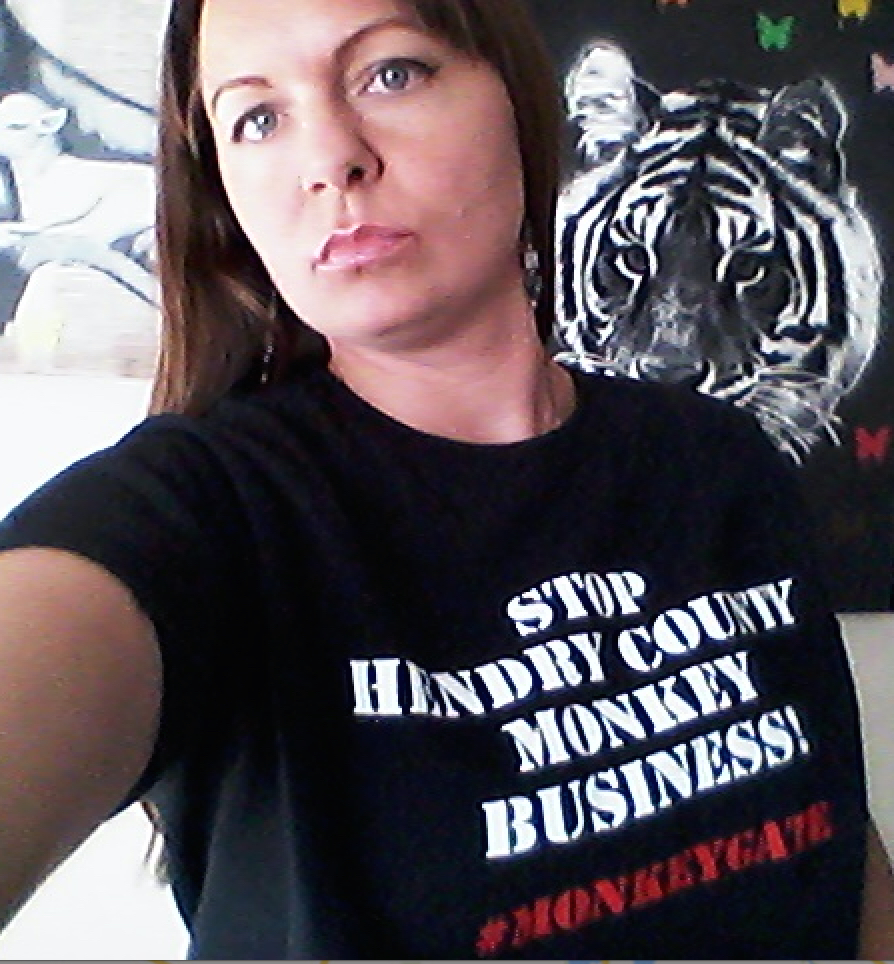 Jessica Thomas of Lehigh Acres wears MonkeyGate t-shirt