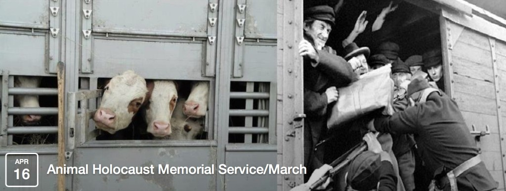 Funeral for victims of animal holocaust on Holocaust Remembrance Day