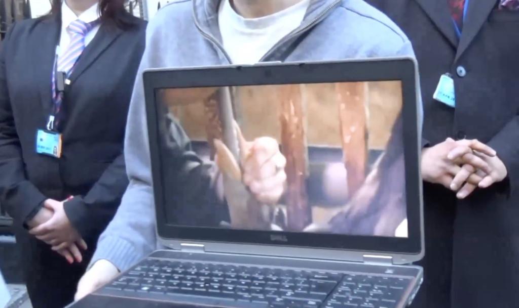 Activists show video of foie gras production inside restaurant