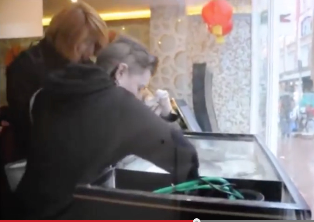 Animal rights activists scoop lobsters out of small tank in Dublin restaurant