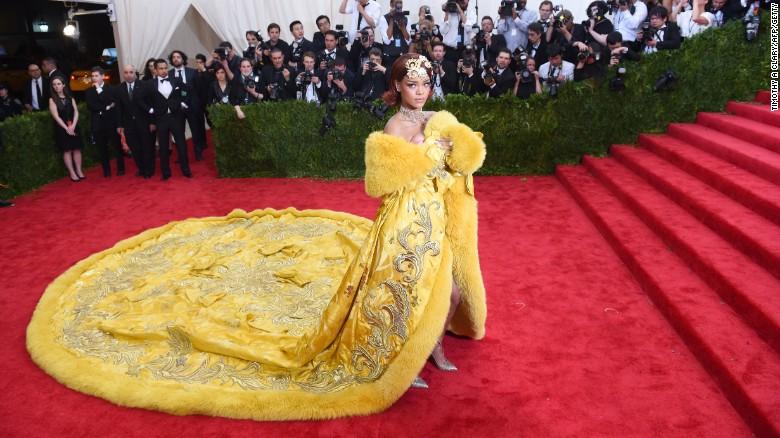 Rihanna in fur