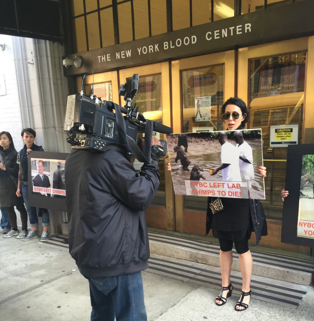 NY Blood Center Protest