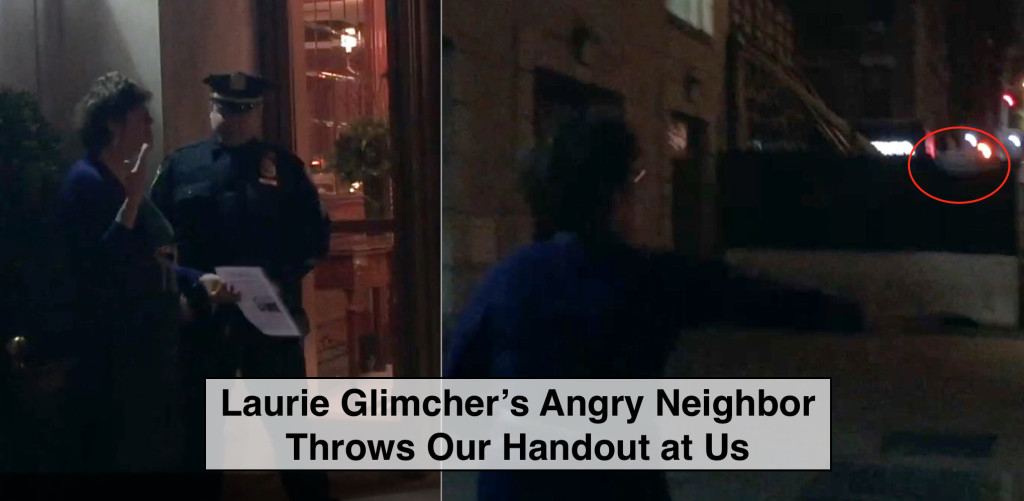 """When Laurie Glimcher's neighbors complain about the disruptive protests, activists tell them to """"take it up with Glimcher."""""""