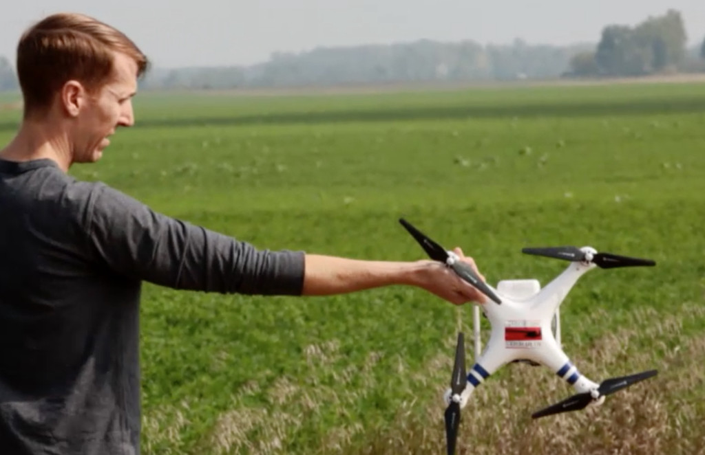 Will Potter captures factory farm footage with a drone before being confronted by the property owners