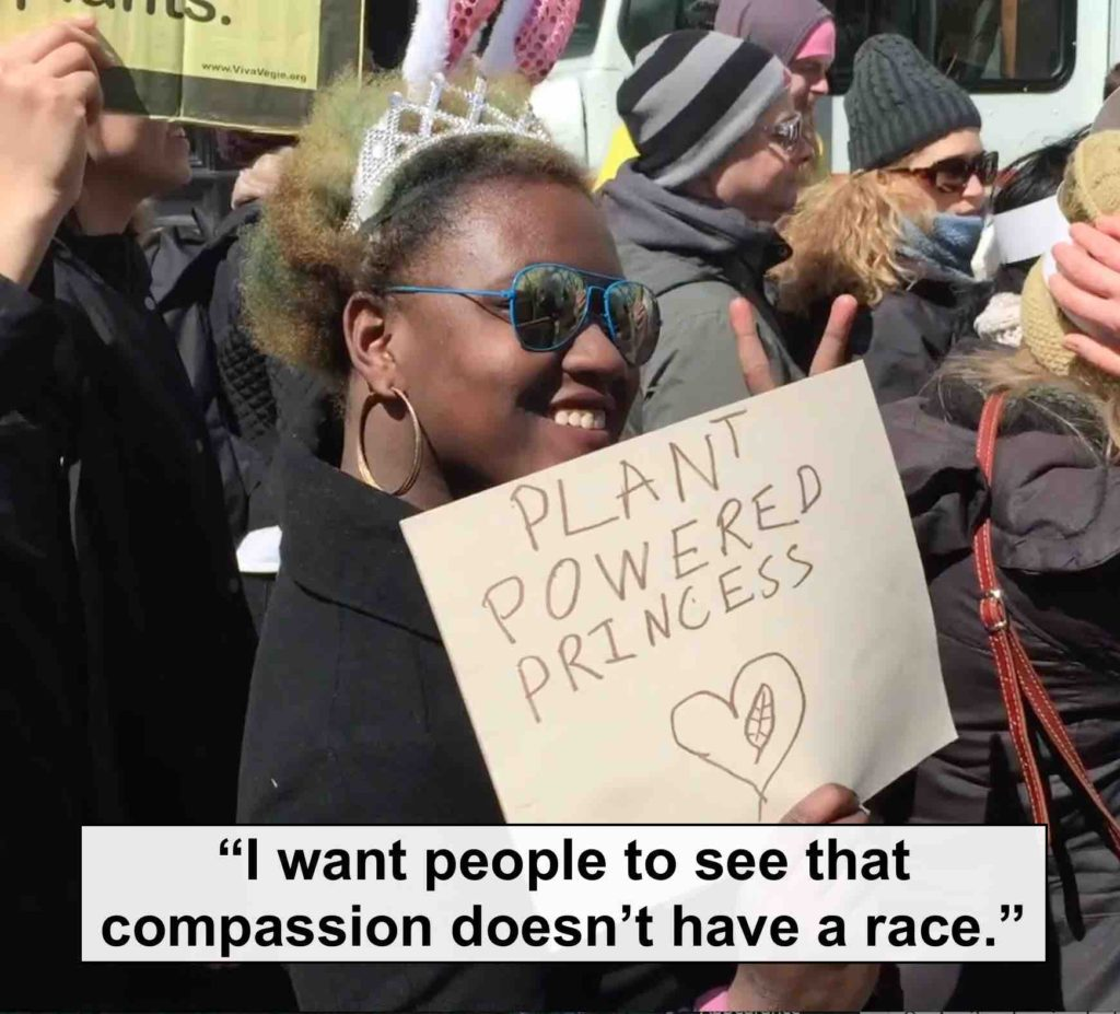 Racial, ethnic and socio-economic diversity at the Veggie Pride parade.