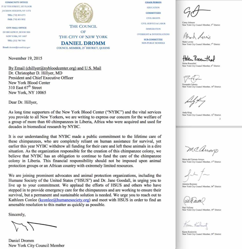 Letter from NYC Council Members to NYBC