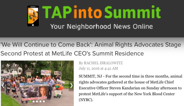 "The protest was covered by ""Tap into Summit,"" a local news outlet."