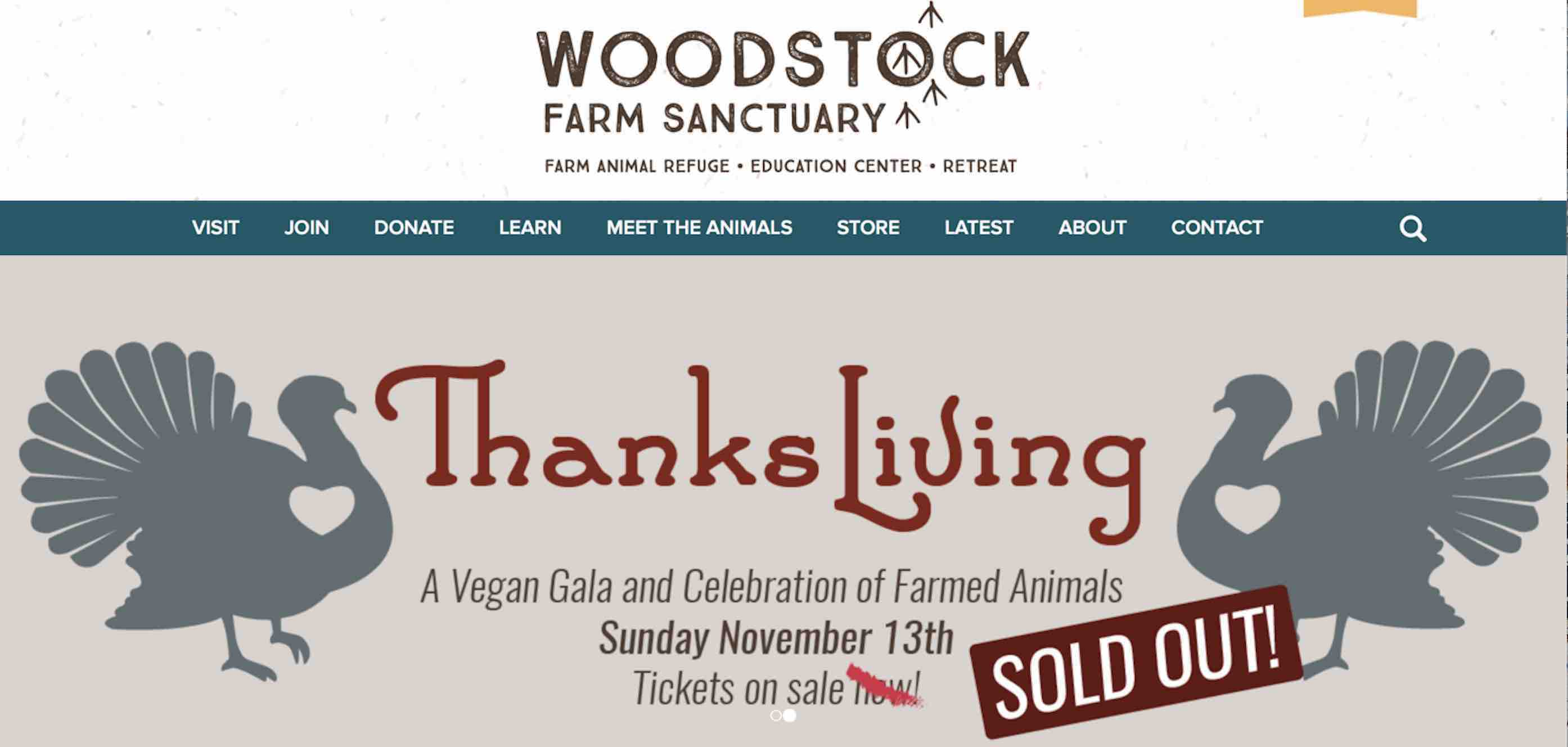 2016 ThanksLiving celebration at Woodstock Farm Sanctuary