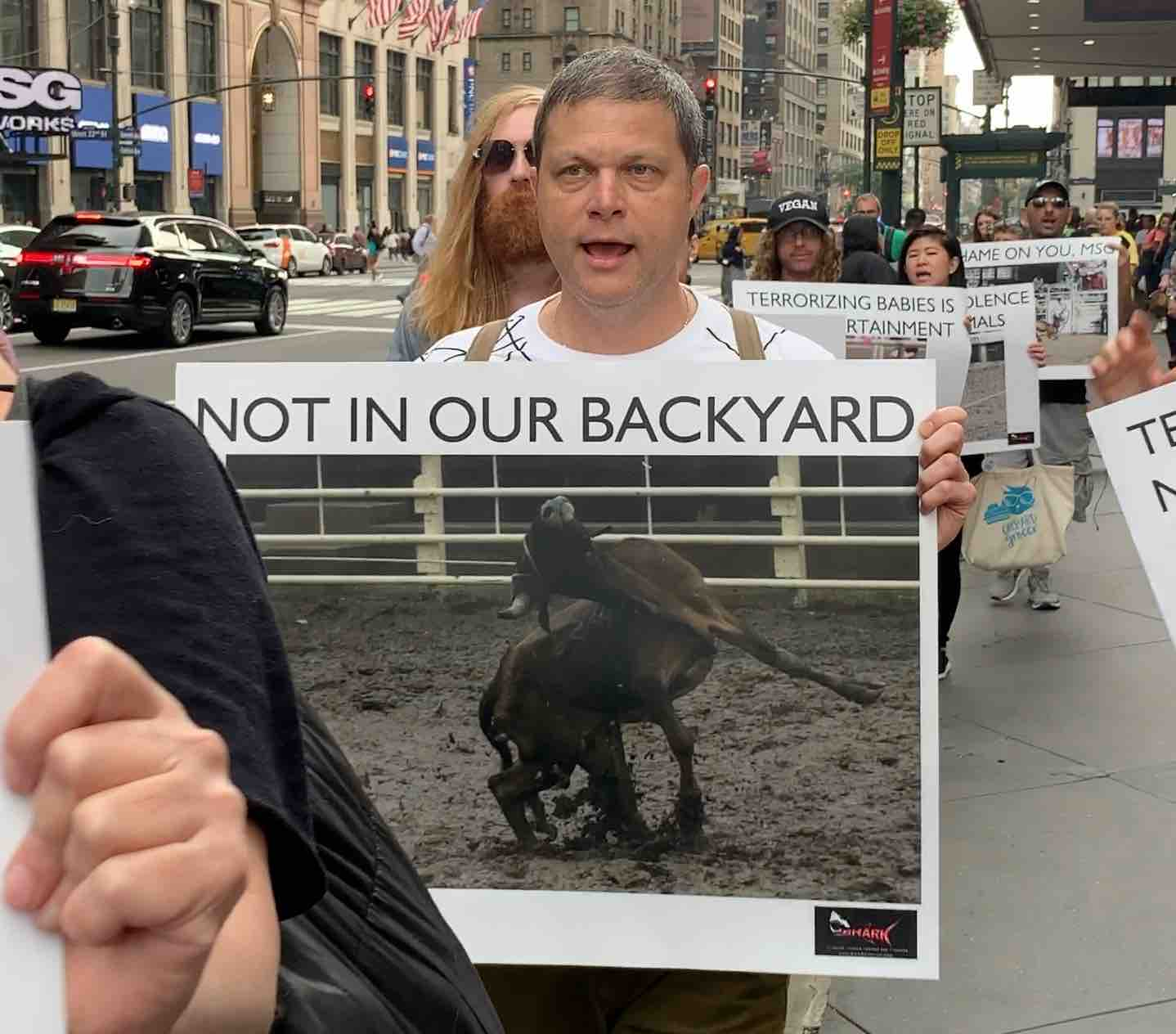 Activists Protest Upcoming Rodeo At Madison Square Garden